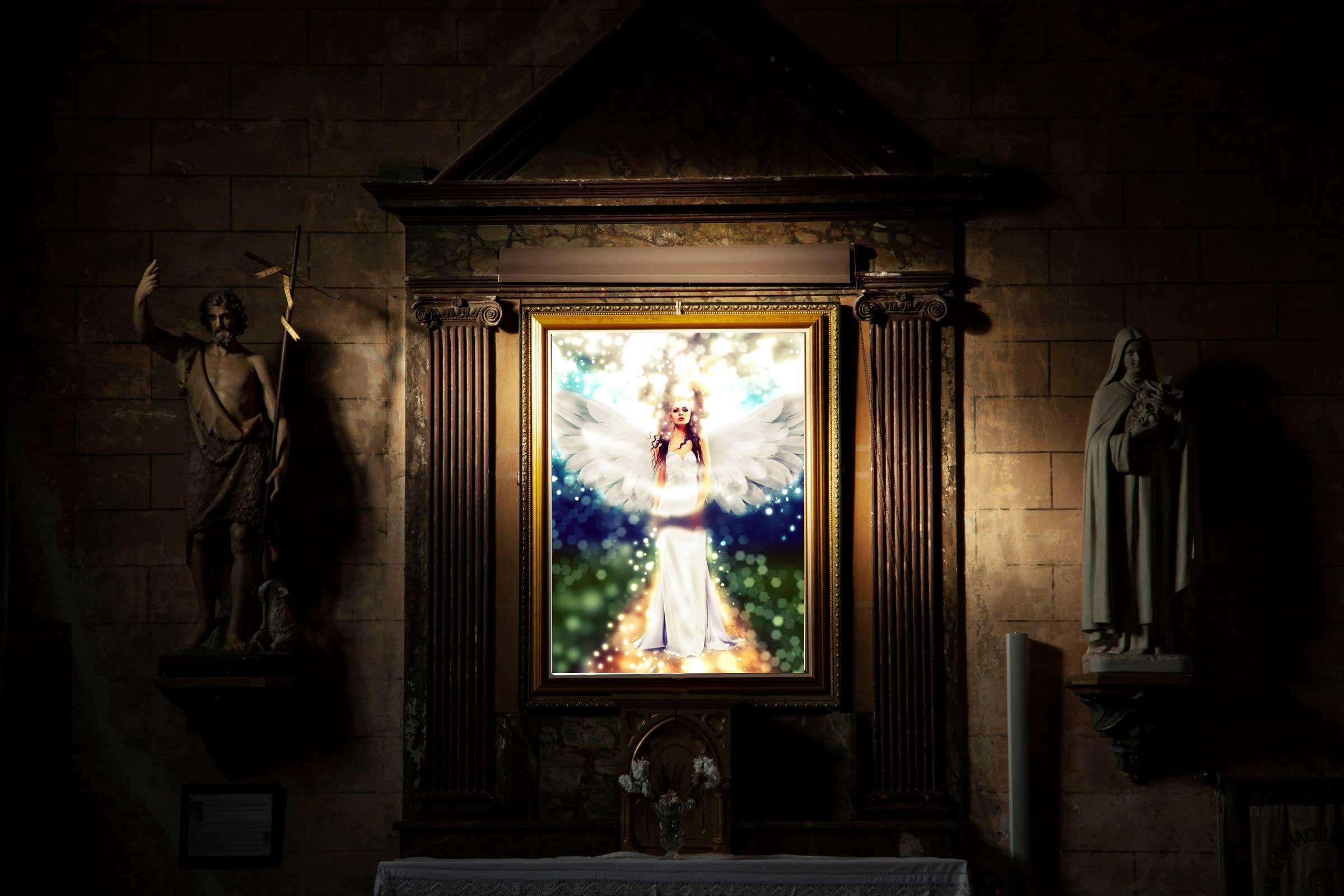 Engelkarte In die Tat umsetzen Botschaft